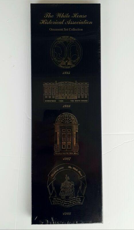 1985-1988 White House Historical Association Christmas Ornament Set SEALED Box