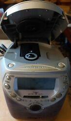 Philips Magnavox AJ3950/17 Dual Alarm Clock CD Player Radio Free Shipping Return
