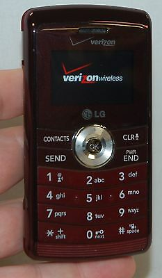 LG EnV3 Verizon BURGANDY Cell Phone VX9200M Red Flip-Keyboard GPS 3MP Camera