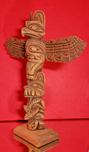 """RAY WILLIAMS (1933-88) NWC TOTEM POLE - 11"""" FINE EARLY Example by Master Carver"""