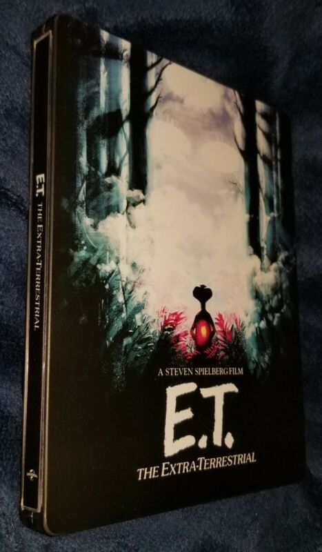 E T Blu Ray STEELBOOK AUTOGRAPHED BY ACTOR HENRY THOMAS Elliott