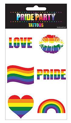 Rainbow Tattoos (6 Rainbow Pride Tattoos - Gay Lesbian LGBT Parade Freedom Colour)