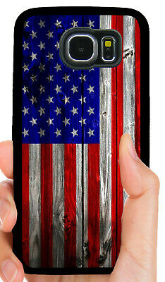 AMERICAN FLAG USA PHONE CASE FOR SAMSUNG NOTE & GALAXY S5 S6 S7 S8 S9 S10 PLUS](Flag Holder Case)