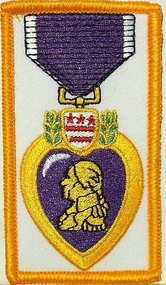 (Purple Heart Medal Embroidered Iron-On Patch Tactical Morale Military Emblem )