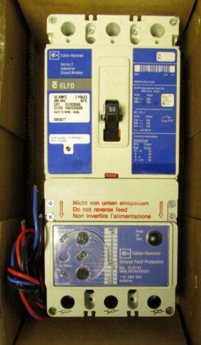CUTLER HAMMER Type ELFD Earth Leakage Circuit Breaker 50 Amp 3 Pole ELFD3050L