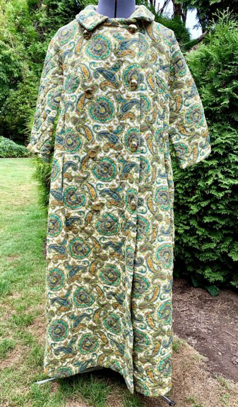 Vintage FRANKLIN SIMON Paisley QUILTED Women