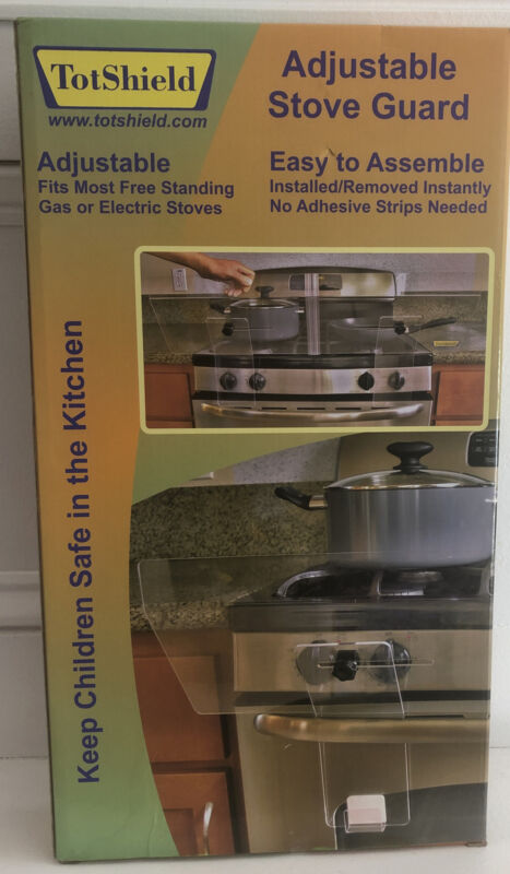 Adjustable Stove Safety Guard Totshield  - Clear