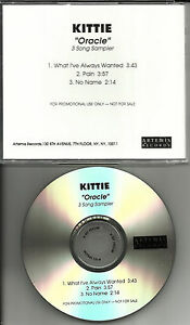 KITTIE-Oracle-3-Song-Sampler-TST-PRESS-PROMO-RADIO-DJ-CD-single-2001