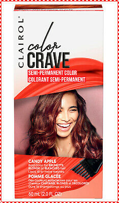 🌟NEW🌟 Clairol Color Crave Semi-Permanent Hair Color Candy Apple Dye ~ 1 each - Colored Candy Apple