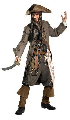Captain Jack Sparrow Theatrical Quality Adult Costume - Theatrical Quality Costumes