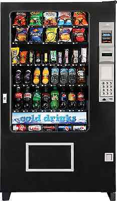 Automated Merchandising System Sodasnackcandy Combo Glass Front Vending 5 Wide