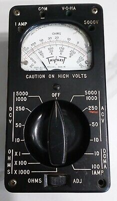 Vintage Triplett 666-r Multimeter In Nice Physical Shape Usa