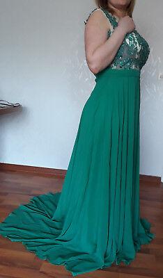 Maxi-Kleid Kleid IZIDRESS Gr.40-42 Ballkleid Abendkleid Pailletten Grün gebraucht kaufen  Versand nach Austria