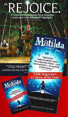 MATILDA PLAYBILL BOOK PHILADELPHIA,PA DECEMBER 2018