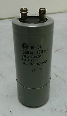 Aic Capacitor 1000 Mfd 400 Vdc Hcg6a A42l-0001-0095102 Used Warranty