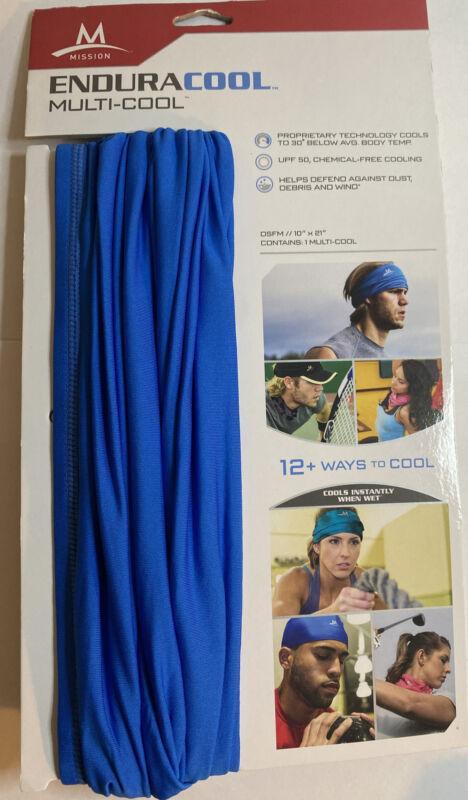 Mission Cooling NeckGaiter 12+ Ways To Wear UPF50, Cools when Wet Blue