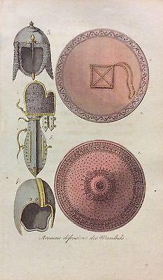 Armures défensives de Mamelouk 1814 Egypte aquatinte , usado segunda mano  Embacar hacia Argentina