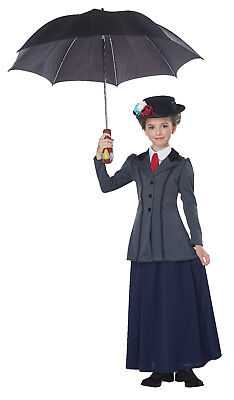 Mary Poppins English Nanny Child Costume  (Mary Poppins Kids Costume)
