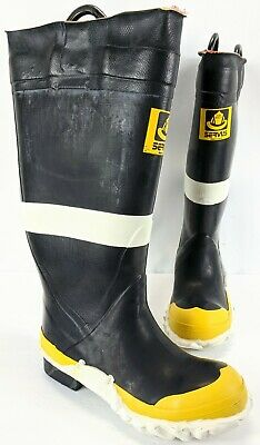 Vtg Servus Fire Boots Firefighter Safety Mens Steel Toed Shoes Sz 9 Turnout Gear