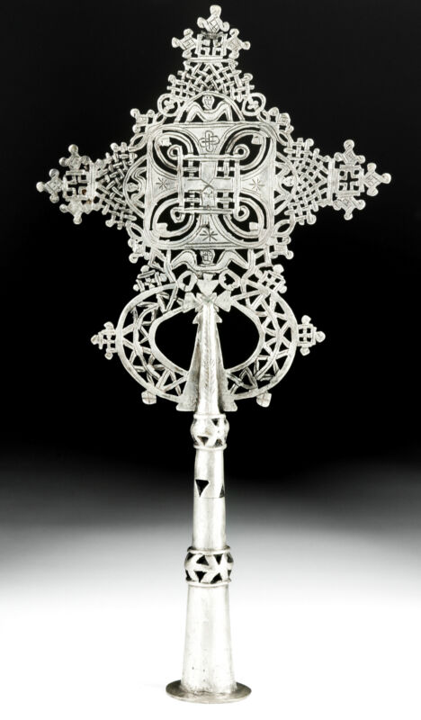Ethiopian Brass Processional Cross
