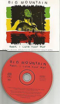 BIG MOUNTAIN Baby I love your Way RARE RADIO & MIX & SPANISH Version CD -