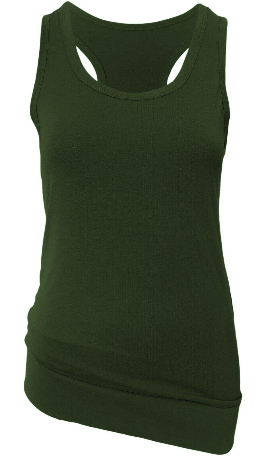 Tank Tops Damen 2er Set Viskose Sport Freizeit Tops lange Träger-Shirts GR 36-40