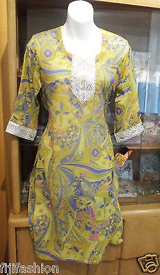 Indian Bollywood Kurta Kurti Designer Women Ethnic Dress Top Tunic Pakistani 36i