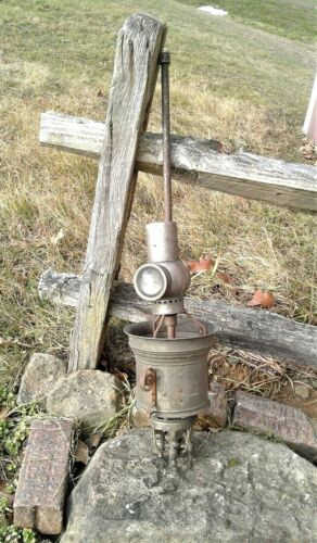 Antique Ceiling Gas Light with Reflector 1880s Era