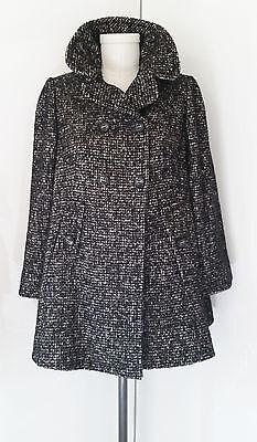 Gorgeous DOLCE & GABBANA Tartan Tweed Wool Swing Coat 44