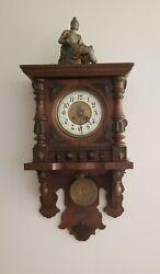 Antique 19th Century Kienzle German Pendulum Regulator Striking Wall Clock