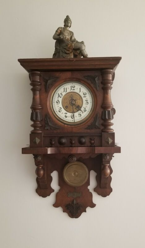 Antique 19th Century Kienzle German Pendulum Regulator Striking Wall Clock