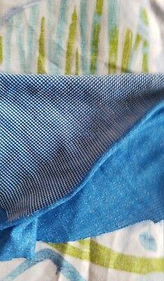 Polartec power wool BLUE grid fabric By The Yard