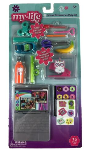 My Life As~School Accessories Play Set~15 Piece Set~Real Working Accessories NEW