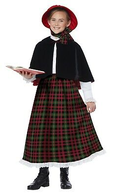 Holiday Caroler Girl Christmas Dickens Victorian Child Costume (Caroler Costumes)
