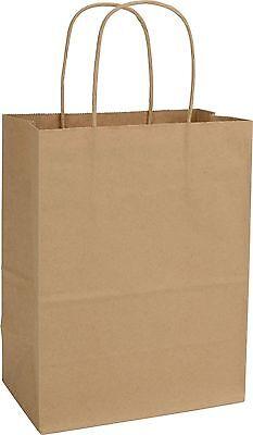 Kraft Shoppers (Case of 250 Kraft Paper Bags Shoppers Cub 15-8 8 1/4X4 3/4X10 1/2