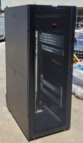 APC AR3350 42U 47 Deep NetShelter SX Server Rack Enclosure 2x Rack PDU CLEAN!