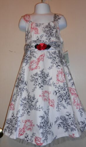 Bonnie Jean Girls Floral Spring Summer Dress Black & White 5