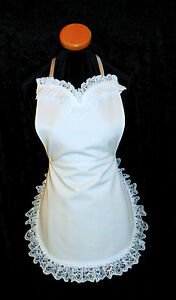 VICTORIAN-SEXY-FRENCH-MAID-FANCY-DRESS-COTTON-APRON-in-WHITE-Made-in-England