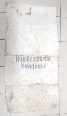 """alter Getreidesack- Leinen-Sack """"Reichardtbräu Landshut""""-ungereinigt wie benützt"""