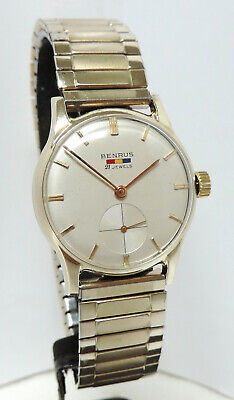 1950's Men's Benrus Swiss 21 Jewels Wrist Watch, Recently Serviced!