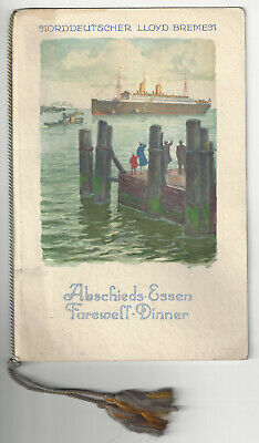 Bremen Collection - Norddeutscher Lloyd Bremen - S. S. Seydlitz - Ship - Farewell Dinner Menu 1930