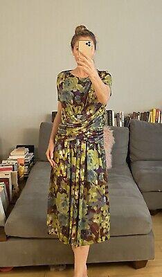 Stunning Etro Floral Print Summer Dress 48 M Italy
