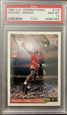 1992 Michael Jordan Upper Deck International PSA 10