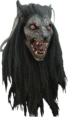 Halloween Costume BLACK MOON WOLF Horror High-Quality Latex Deluxe Mask