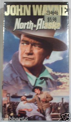 NEW Factory Sealed North To Alaska VHS Tape Starring John Wayne Ernie Kovacs - $4.85