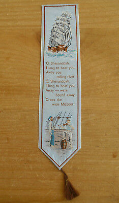Cash's Silk Bookmark - O Shenandoah - 8 5/8