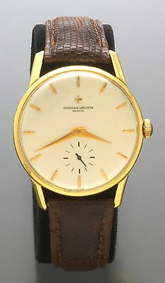 Rare 18K Gold Vacheron Constantin Watch Oversize Triple Signed Vacheron 1961