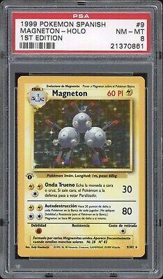 1999 Pokemon SPANISH 1st Edition Base Set Magneton Holo 9/102 PSA 8 NM-MT