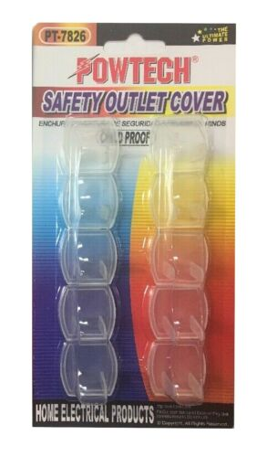 Trisonic Outlet Plug Covers 10-Count Child Proof UL Electrical Protector Safety