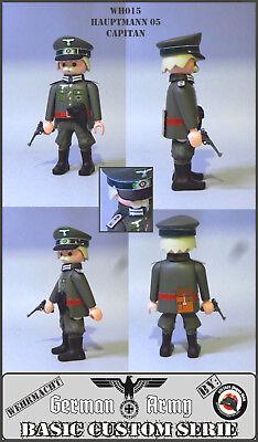 Playmobil Custom WW2 CAPITAN EJERCITO ALEMAN SOLDADO SEGUNDA GUERRA MUNDIAL ACW